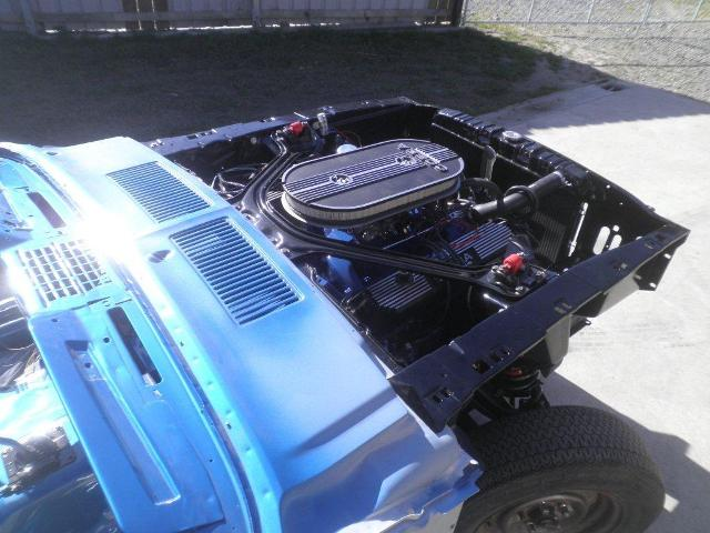 The engine is in place and the car is ready for final body fitment.