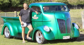 photo: Derek Flynn Bragging rights: Blenheim car restorer Mark Stead stands beside the 2012 Big Shed Customs COE truck he built, identified among the top vehicles at two North Island car shows.